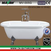 Classical double ended clawfoot bathtub MV-005G