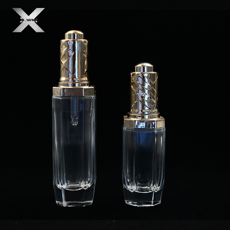 30ml-80ml glass lotion serum oil dropper bottle pump for cosmetic