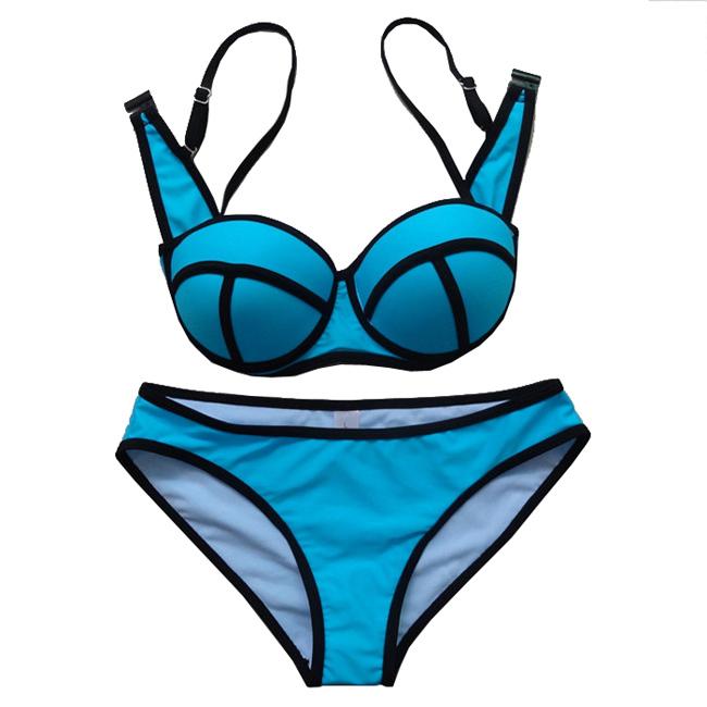 3a8f738c49 Get Quotations · 2015 Hot sale Triangle Bikinis Swimwear Padded Women  Neoprene Bikini Swimsuit Push Up High Quality Bikinis