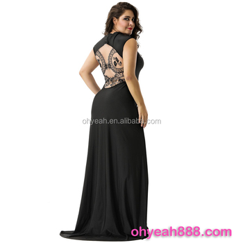 Latest Fashion Embroidery Dress Ladies Long Evening Party Wear Gown ...
