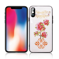 New Arrivals 2020 Embossed Painting Phone Cover Colorful flower Case for iPhone 7 XS MAX XR Floral Case Wholesale