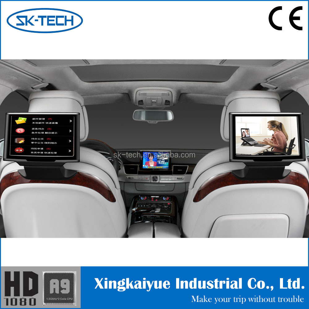 10 1 android car rear seat headrest dvd player touch. Black Bedroom Furniture Sets. Home Design Ideas