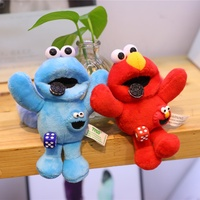 Sesame Street plush key chain cookie monster plush toy