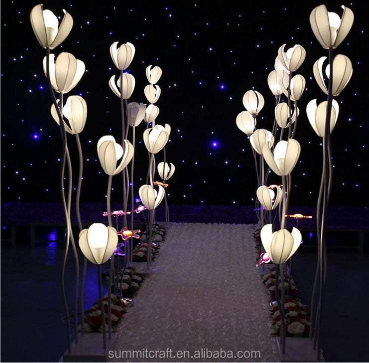 LED flower stand wedding aisle decor