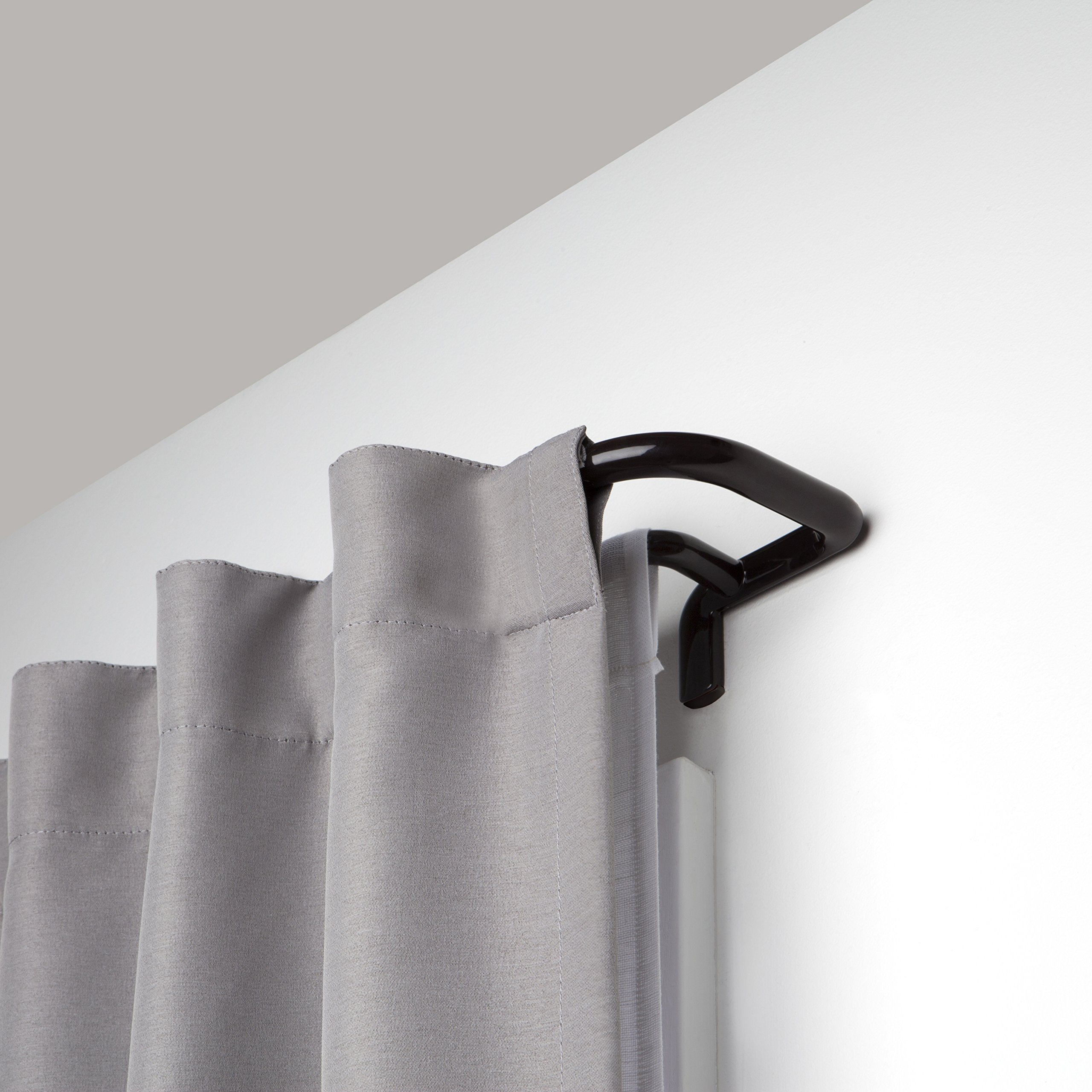Umbra Twilight Double Curtain Rod Set – Wrap Around Design is Ideal for Blackout Curtains or Room Darkening Curtains, 88 to 144 Inch, Auburn Bronze