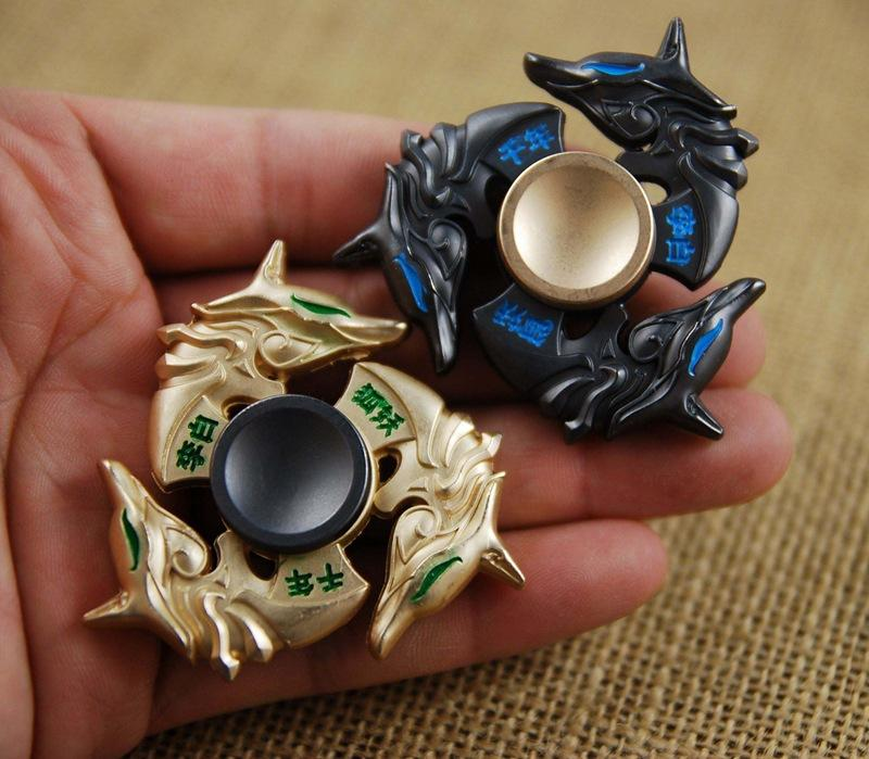 2017 LOL Golden Dragon Fidget Spinner Zinc Alloy Metal Rotary EDC Hand Spinner For Autism And ADHD Focus Stress Fingertip Gyro