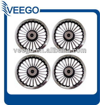 Set Of 4 Golf Cart Hubcaps 8  Wheel Covers Fit Club Car Yamaha Ezgo ... 81a192efd23