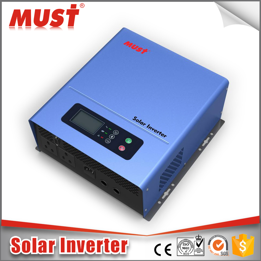 NEW Function!!! MUST Factory Price list PV2000Pro Series Solar Power Inverter dc 24v ac 220v 1000 watt