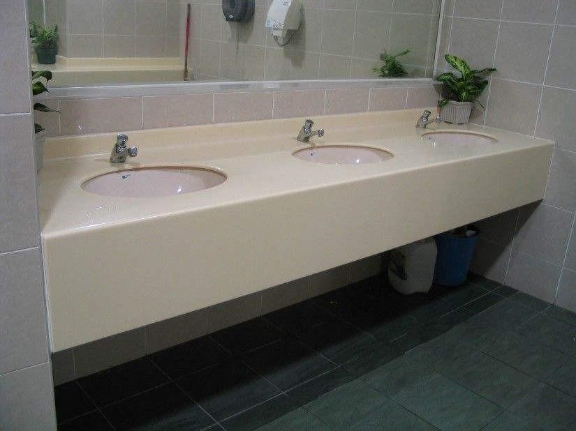 Beige Quartz Stone Table Top Bathroom Vanity Tops With Sink Product On