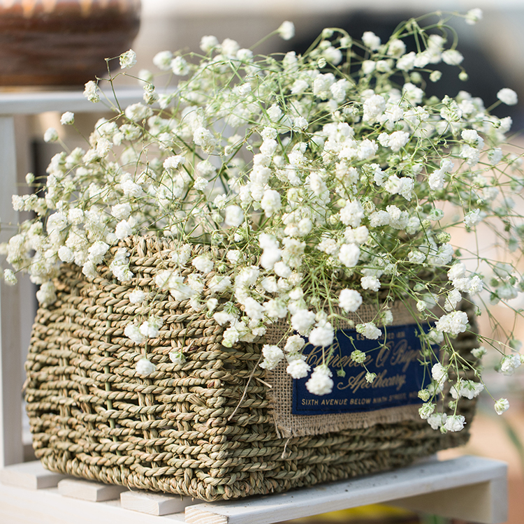 Punctual Artificial Flower Rattan Living Room Plastic Admiralty Willow Hanging Basket Ornaments For Home Decor Festive & Party Supplies