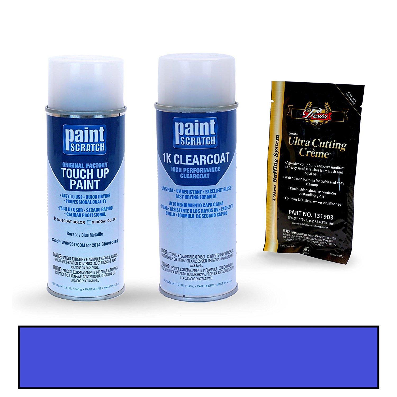 2014 Chevrolet Sonic Boracay Blue Metallic WA895T/GQM Touch Up Paint Spray Can Kit by PaintScratch - Original Factory OEM Automotive Paint - Color Match Guaranteed