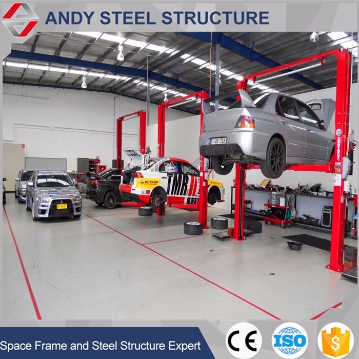 Design Auto Service Steel Structure Car Workshop Equipment