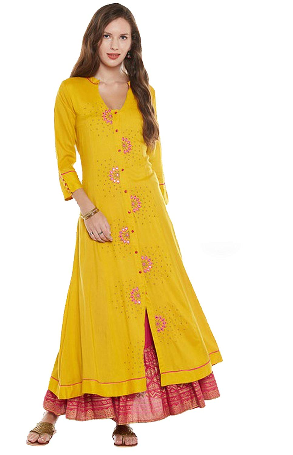 85c7cddb04c Buy Manas Crafts Designer Kurta Kurti Indian Ethnic Party Wear Women Dress  Top Tunic Blouse in Cheap Price on m.alibaba.com