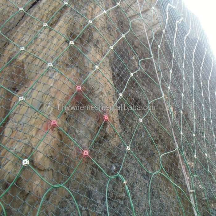 rockfall rope mesh slope protection netting steel wire mesh  rockfall netting