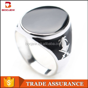 saudi arabia silver men rings without stones sale in gaungzhou