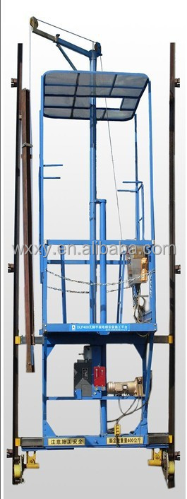 Elevator lifting installation platform /false car