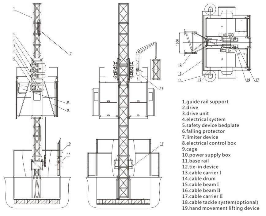 sc200  200 hoist   construction passenger hoist   passenger