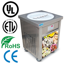 USA 110V 60HZ high efficiency flat pan fry ice cream machine fried ice cream machine nsf and ul