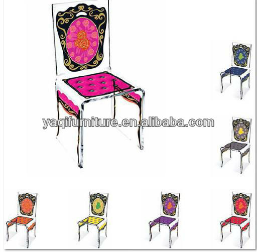 Acrylic Upscale silk screen wedding chair
