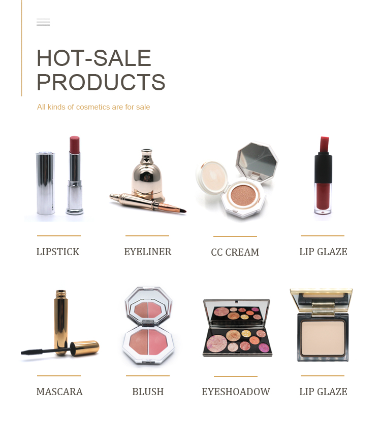 Private label cosmetics makeup in stock packaging blush stick blush
