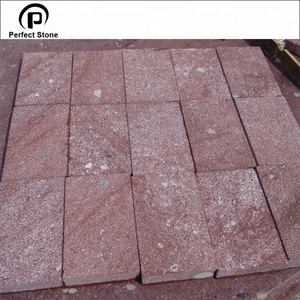Red porphyry cheap granite paving stone
