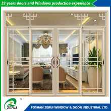 High quality top fixed design aluminium alloy sliding door