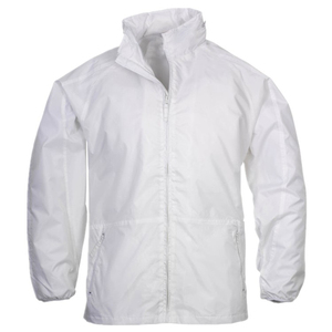 Custom 100% Polyester Rain Jacket Windbreaker Wholesale With Concealable Hood