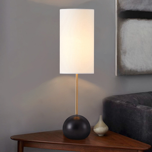Cheap Price Long Lampshade Thailand Hotel Guest Room Table Lamp