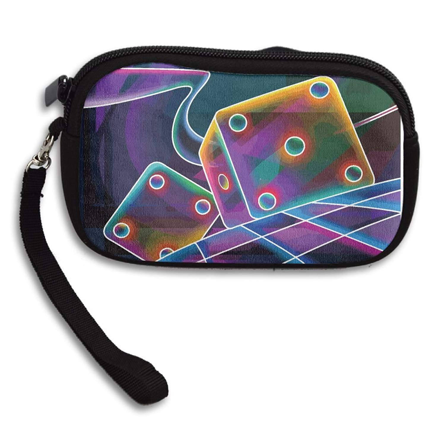 Colorful Dice Deluxe Printing Small Purse Portable Receiving Bag