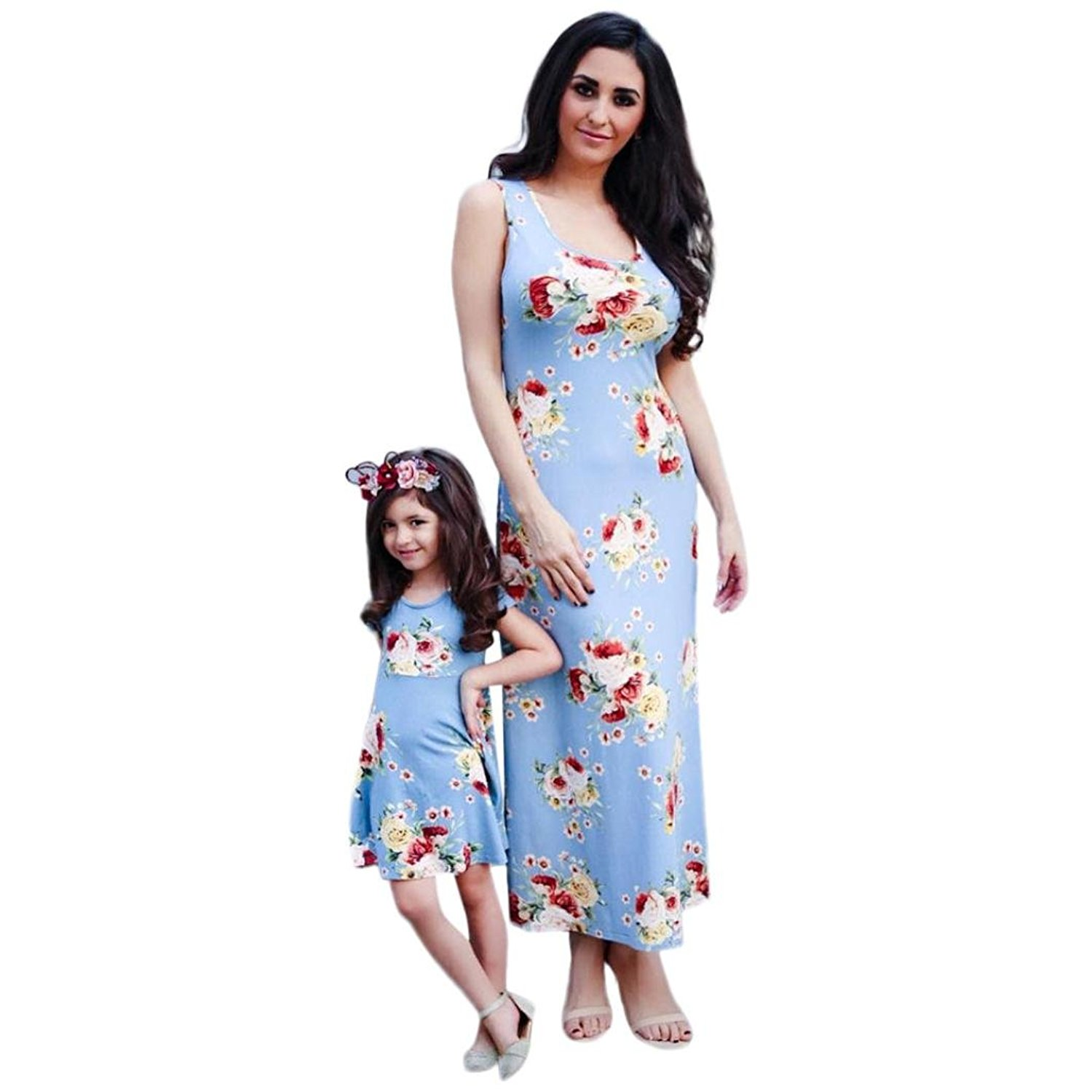 a30067278 Get Quotations · Appoi Family Matching Clothes,Mommy and Me Mom&Me Women  Baby Girl Matching Sundress Vest Slim