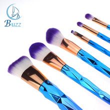 Customized Private Label (High) 저 (Quality 메이 컵 화장품 유니콘 Diamond 7 pcs Brush Make Up Set Professional