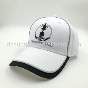 Hot selling custom embroidery white hat baseball golf cap for sale