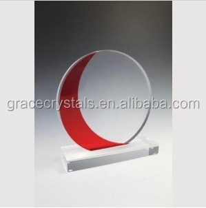 Round red crystal awards practical corporate gifts