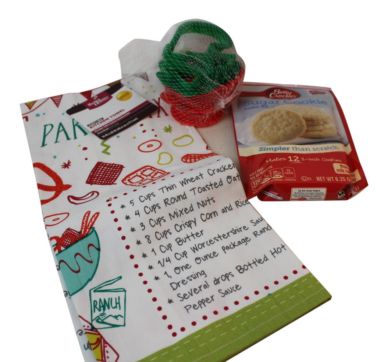 3 pc christmas dish towel and sugar cookie bundle dish towel with christmas recipes - Betty Crocker Christmas Cookie Recipes