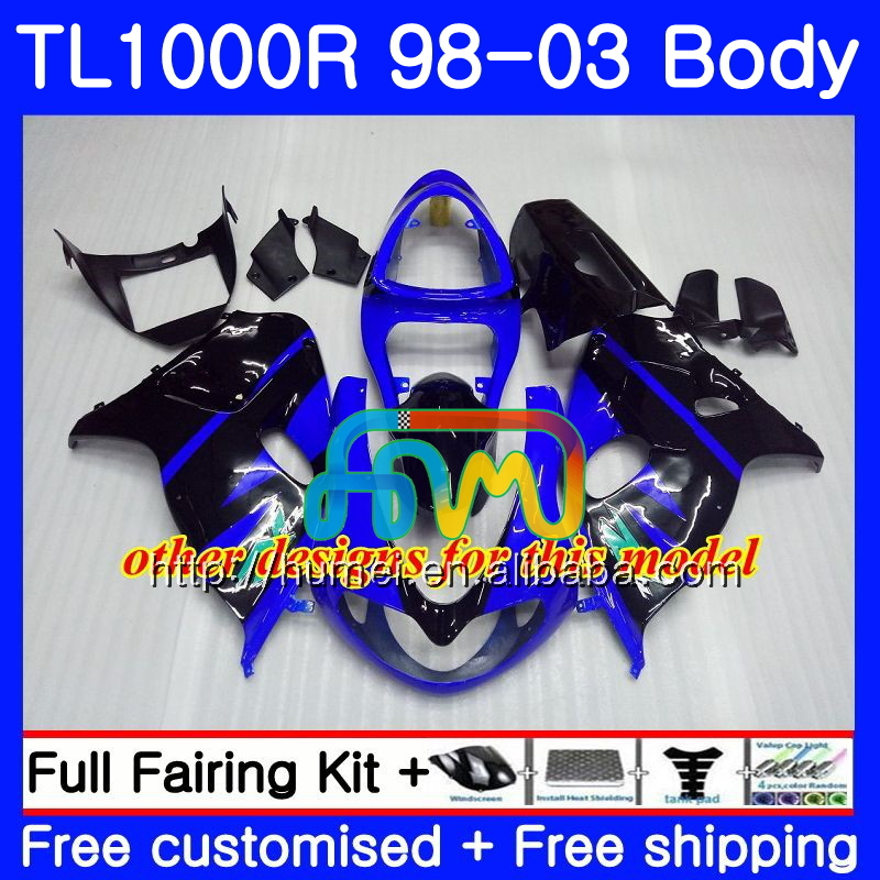 +tank For Suzuki Blue Black Tl1000r 1998 1999 2000 2001 2002 2003 38hc.4 Tl1000 R Tl 1000 R 1000r 98 99 00 01 02 03 Fairings Motorcycle Accessories & Parts Protective Gear