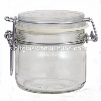 empty glass honey jar 350ml glass jar with latch lid buy 350ml