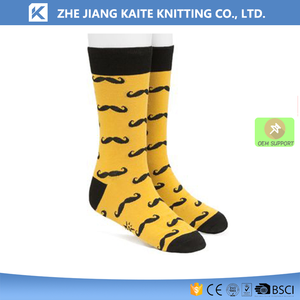 KTP-2118 yellow mens dress socks