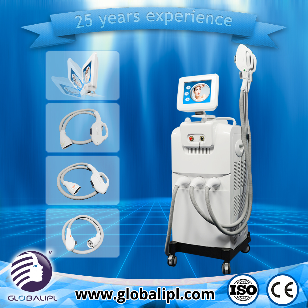 New technology OEM hair remove ipl hr and sr two handpieces