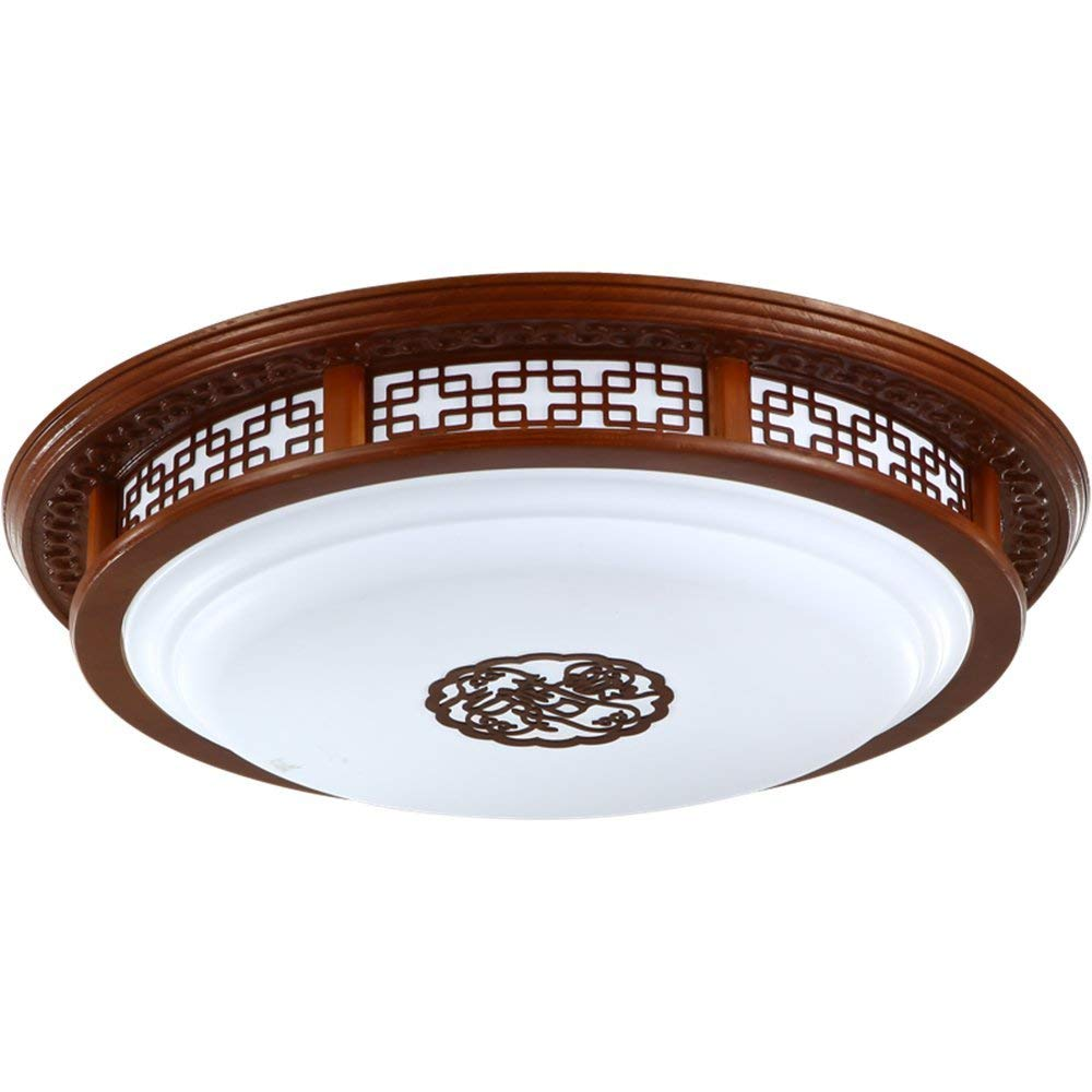 Modern LED Pendant Flush Mount Ceiling Fixtures Light Solid wood ceiling lamp acrylic lighting modern Chinese ceiling lamp round LED light ceiling lamp, 600mm
