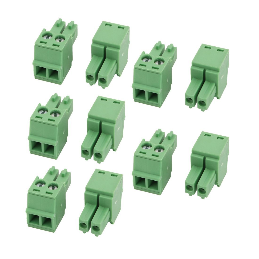 uxcell 10 Pcs AC300V 8A 3.5mm Pitch 2P PCB Terminal Block Wire Connection