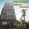 40W waterproof fabric folding Solar Power Panel Bag For Charging or solar mobile charger cover