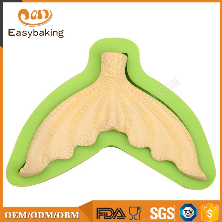 ES-0702 Fish Tail Silicone Molds Fondant Mould for cake decorating