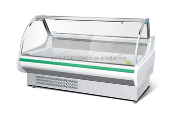 Buthcer Shop Meat Refrigerator Counter Commercial Freezer