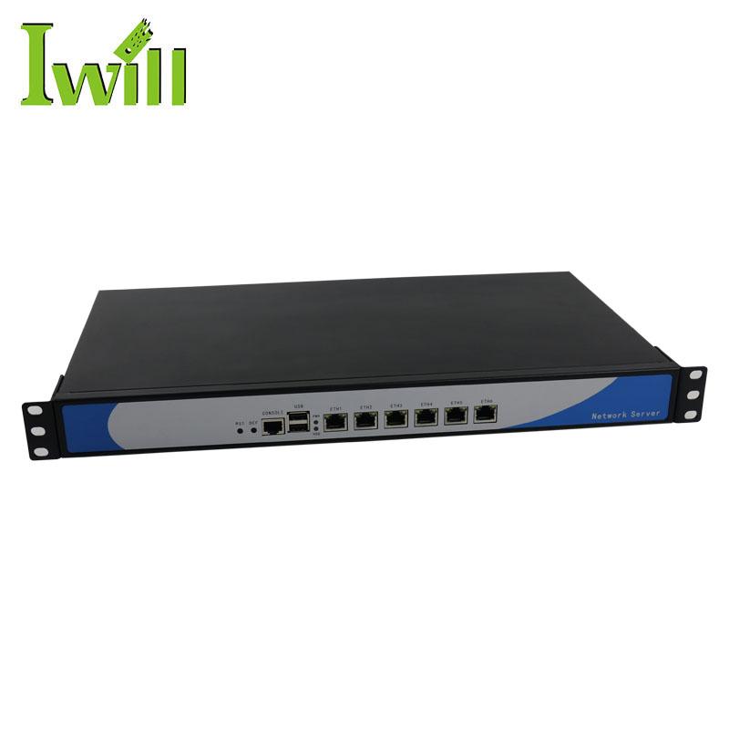 Network cloud Sever computer intel core 1037u dual core 6 lan 1u rack mount server