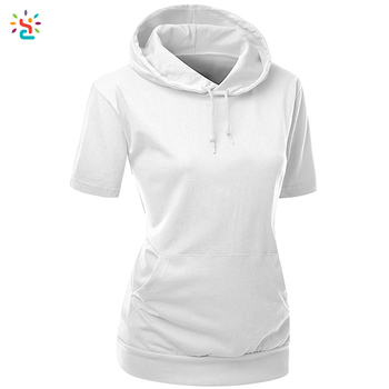 eeff04c200c Wholesale blank hooded t-shirts 90% cotton 10% polyester t shirt custom logo
