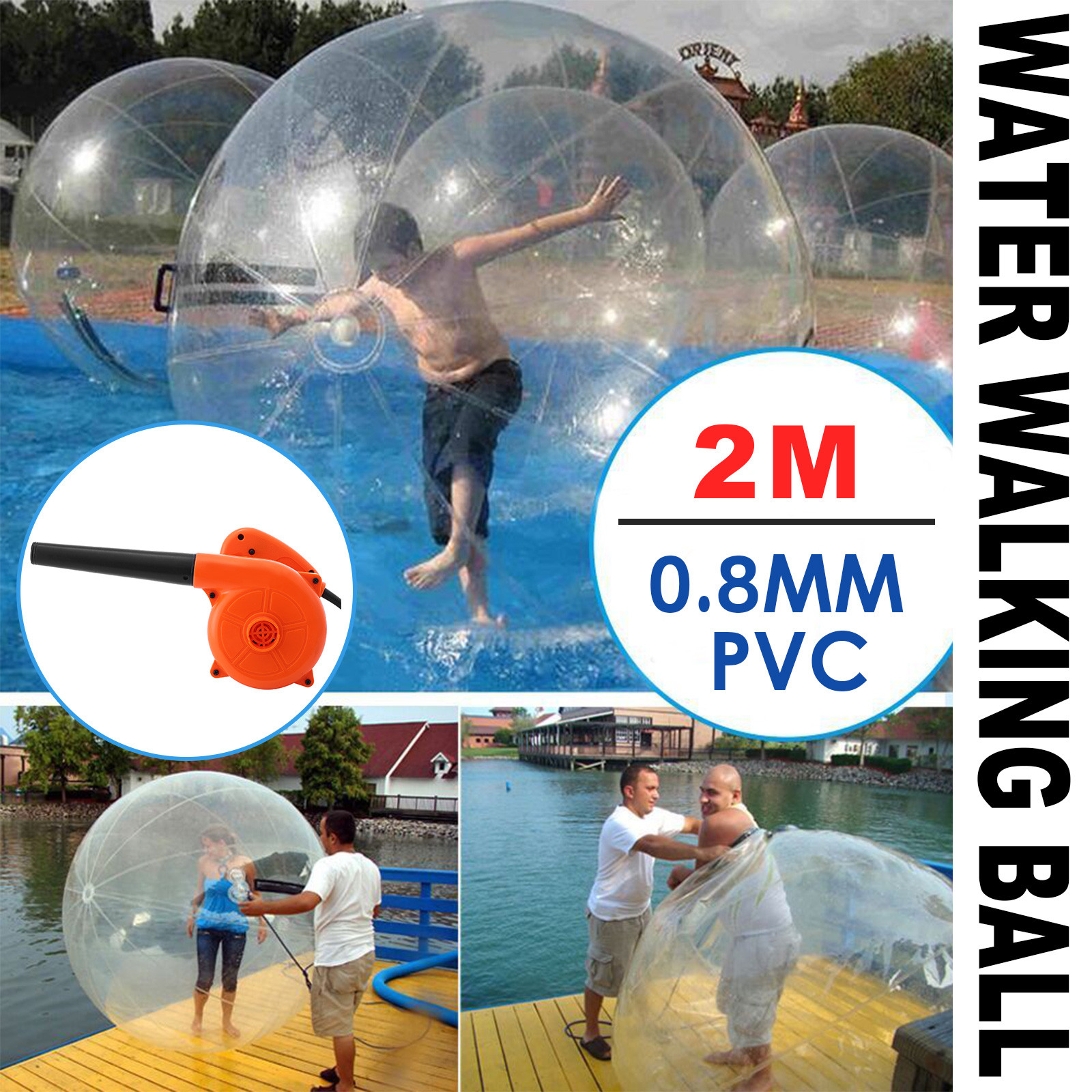 Transparent Giant Cylinder Human Water Bubble Ball Pvc Floating Roller Home Appliances Home Appliance Parts