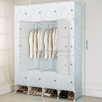 20 cube plastic clothing cabinet with shoe rack for living room