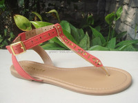 2015 new style simple roman design flat sandal import