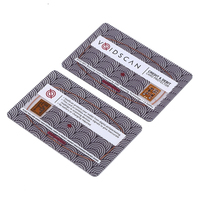 Anti scan custom printed credit card holder rfid blocking card