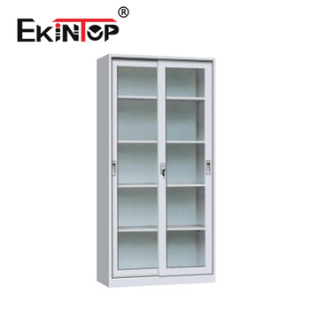Ekintop big lots salon furniture quilt stereo china metal book storage filing cabinet with glass sliding door